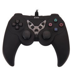 CN-2026 Plastic USB Computer Game Controller for PC Black
