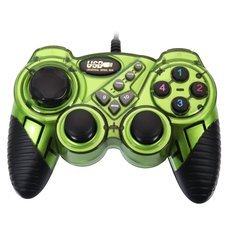 KD906 Plastic Highly Sensitive USB Computer Game Controller for PC Green