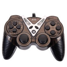 CN-2020 Plastic USB Computer Game Controller for PC Black