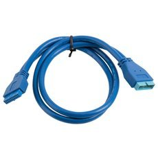 0.5M USB 3.0 Motherboard 20Pin Male to 20Pin Female Cable Blue