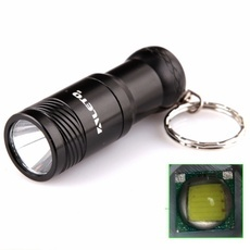 ALETO KL209B XM-L T6 LED 690LM 3 Mode White Light Flashlight with Keychain Black (1 x 16340)