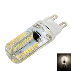 G9 4W 64LEDs SMD3014 3000-3500K Warm White Light Silicone LED Corn Light Bulb (100-120V)