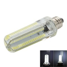 E11 7W 152-LED 3014 SMD 6000-6500K White Light Adjustable Silica Gel Corn Light (100-120V)