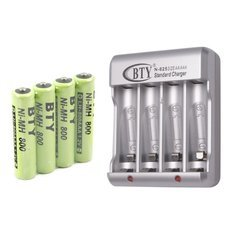BTY-N825 Charger with 8pcs AA/AAA Rechargeable Ni-MH Batteries