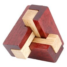 Intelligent Wooden Interlocked Kongming Lock Series Lurking Assembly Puzzle Toy Wood Color