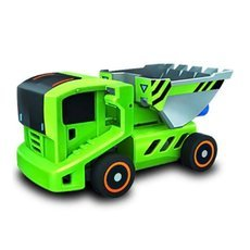 DIY Solar Powered 7-in-1 Toy Vehicles & Power Station Green & Grey & Black