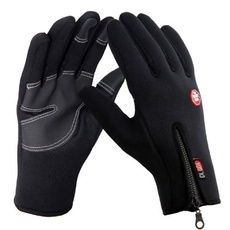 Men's Outdoor Winter Sports Cycling Skiing Warm Touch Screen Gloves Black L