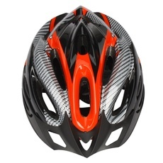 Adult Mens Bike Helmet Red Carbon Colour with Visor