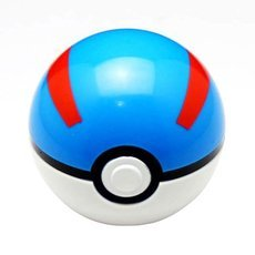 7cm Pokemon Ball Anime Action Figure Collection Toy Cosplay Prop Great Ball Style Blue & Red & White