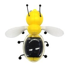 Solar Powered Bee Toy Yellow