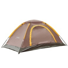 New Portable 2 Person Aluminum Rod Outdoor Camping Tent Waterproof UV-resistant Coffee