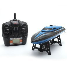 "SKYTECH H100 13.8"" 2.4G 4CH 30km/h High Speed LCD Battery Display RC Boat Switch Mode (7.4V 600mAh) Blue"