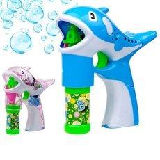 Children′s Blowing Bubbles Toy Cartoon Style Dolphin Shape Automatic Soap Bubble Gun Random Color