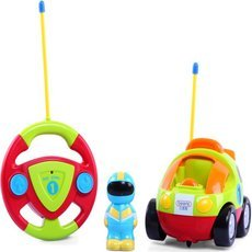 Beiens Children′s Cartoon Remote Control Car with Music and Lights Green