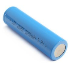3.7V 2200mAh 18650 Rechargeable Flat Head Li-ion Battery Blue
