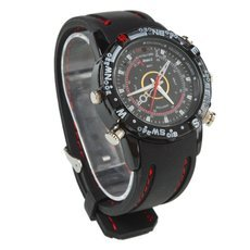 8GB HD Waterproof Camcorder Spy Watch Wrist DV Pinhole Camera Digital Video Recorder Cam
