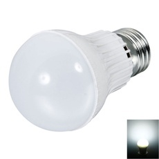 E27 3W 270LM 6050-6700K White Light Eco-friendly Plastic LED Ball Light Bulb (110-220V)