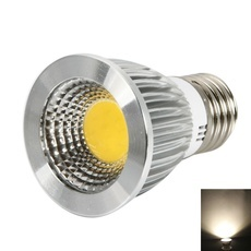 E27 6W 240-270LM 2800-3200K Warm White Light Dimmable COB LED Spot Light Bulb (110V)