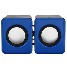 2.0 Computer Desktop Mini Speaker Black and BLue