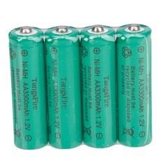 4Pcs TangsFire AA 3300mAh 1.2V Rechargeable Ni-MH Battery Green