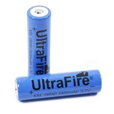1pcs ULTRAFIRE Rechargeable 18650 3.7V 2400mAh Batteries Blue