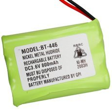 BT-446 3.6V 800mAh Ni-MH Rechargeable Cordless Phone Battery