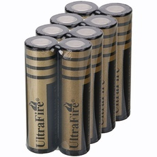 8Pcs 18650 4000mAh 3.6-4.2V Flat Head Lithium Batteries Black