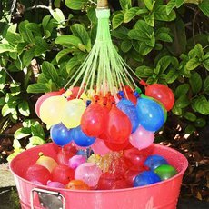 111pcs 3 Bunches Colorful Magic Quick Filling Water Balloons Water Fight Random Color