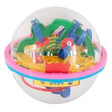 100-Level 3D Magic Maze Ball Intellect Ball Children′s Educational Toy Orbit Game Small Size