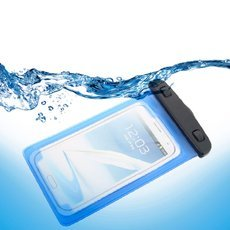 (Clearance)Universal Waterproof Diving Bag with Armband for iPhone/Other Phone Blue