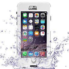 Waterproof Shockproof Dirt-proof Button Style Protective Case for iPhone 6 Plus/6S Plus White