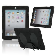 Heavy Duty Shock-Proof Protective Case for Apple iPad 2/3/4 Black
