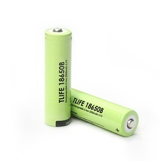 2pcs TLIFE 3.7V 2200mAh 18650 Rechargeable Li-ion Batteries (Cusp) Green