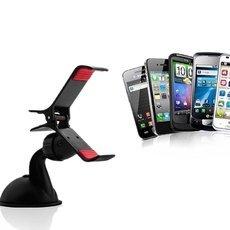 Upgraded Plastic Universal Adjustable Car Mount Stand Holder for Mobile Phone Black