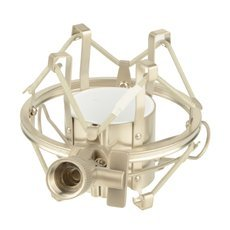 Universal Microphone Shock Mount for Most Recording Type Microphones Silver