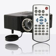 UC28+ HDMI Micro AV LED Digital Mini Video Game Projector Multimedia player Black US Plug