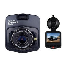 "GT300 1080P 2.4"" Car Video Recorder with 170 Degree View Angle / Night Vision / G-Sensor Motion Black"
