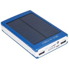 30000mAh Dual-USB Interface Solar Power Battery Charger Mobile Power Blue