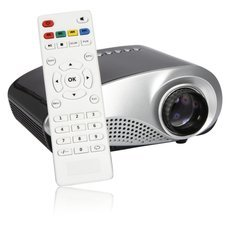 H60 Home Use 60 Lumens LED Mini LCD Projector Black (EU Plug)