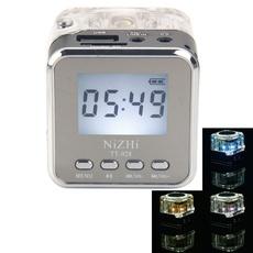 TT-028 Mini Multimedia Speaker LCD MP3 FM Radio for Micro SD MP3 USB Black
