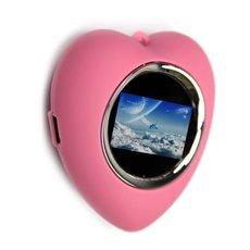 "[Clearance] 1.1"" 16MB Heart Shaped Key Chain Digital Photo Frame Pink"