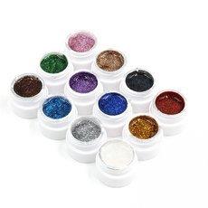 12pcs 12 Colors Glitter Nail Art UV Gel Builder Polish Set