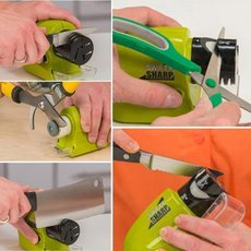 Swifty Sharp Cordless Motorized Knife Blade Sharpener Green