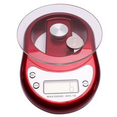 5kg x 1g Toughened Glass LCD Kitchen Digital Scale with Clock Timer