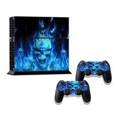 Skull Pattern Decal Sticker Set for PS4 Console & Controllers