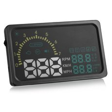 "i5 6"" OBD 2 II HUD Head-up Display System with OBD2 Cable for Car Black"