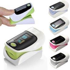 """1.1"""" OLED Screen SPO2 Heart Rate Monitor Fingertip Pulse Oximeter Green & Black & White"""