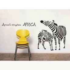Wall Sticker Decal Mural Paper Home Decor Art Vinyl Living Room Zebra Black