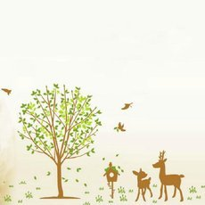 Wall Decor Decal Stickers Removable Large Tree Birds Dear