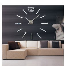 3D DIY Extra Large Luxury Mirror Wall Sticker Clock Home Decoration Living Room